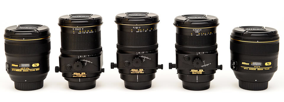 Nikon 24mm vs Nikon 24mm PC-E vs Nikon 45mm PC-E vs Nikon 85mm PC-E vs Nikon 85mm PC-E vs Nikon 85mm