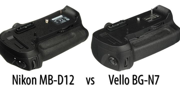 Nikon MB-D12 vs Vello BG-N7 para Nikon D810